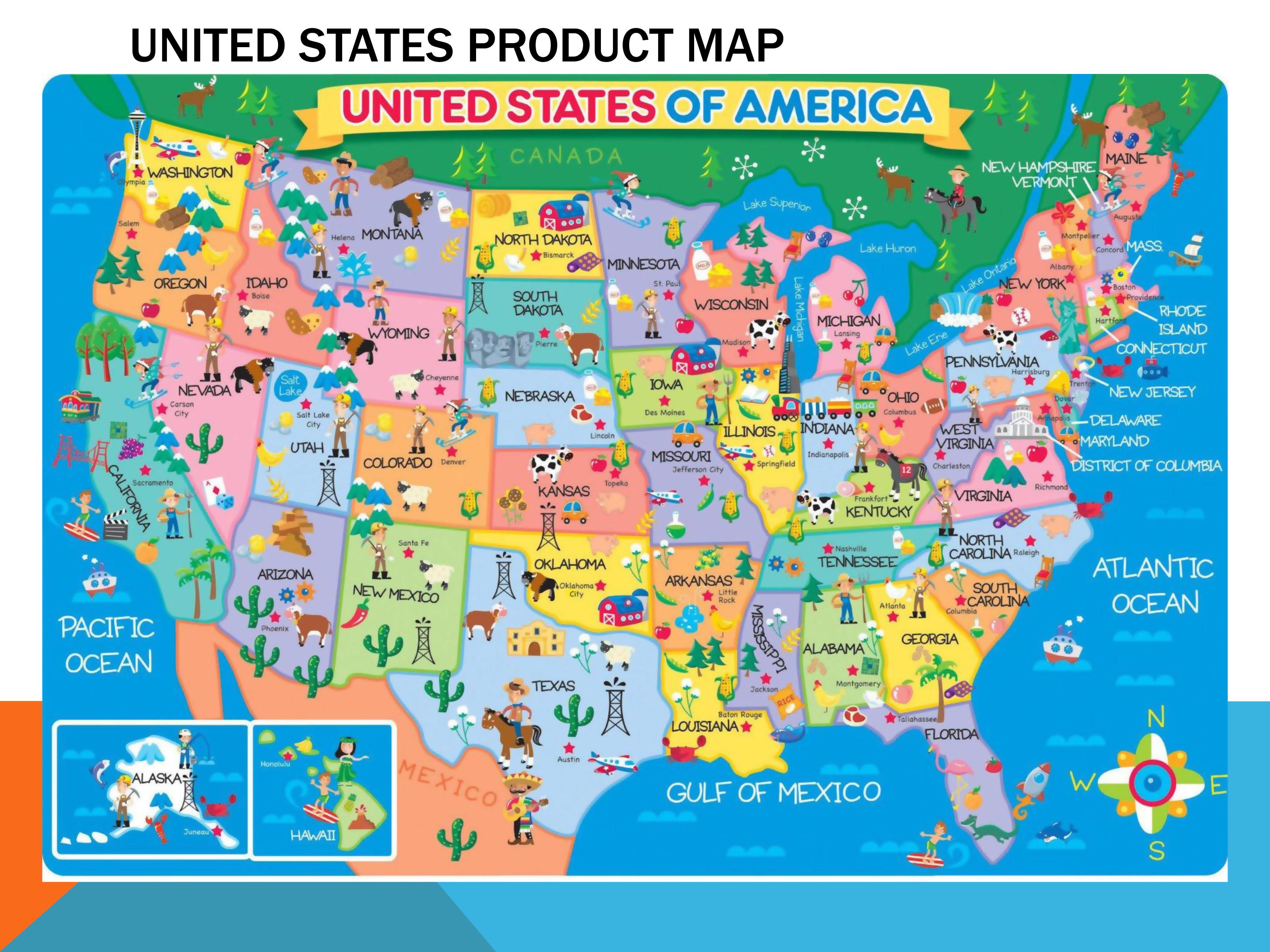 Cartina Geografica Degli Stati Uniti Di America.Mappa Di Stati Uniti Stati Uniti Mappa Grande America Del Nord America