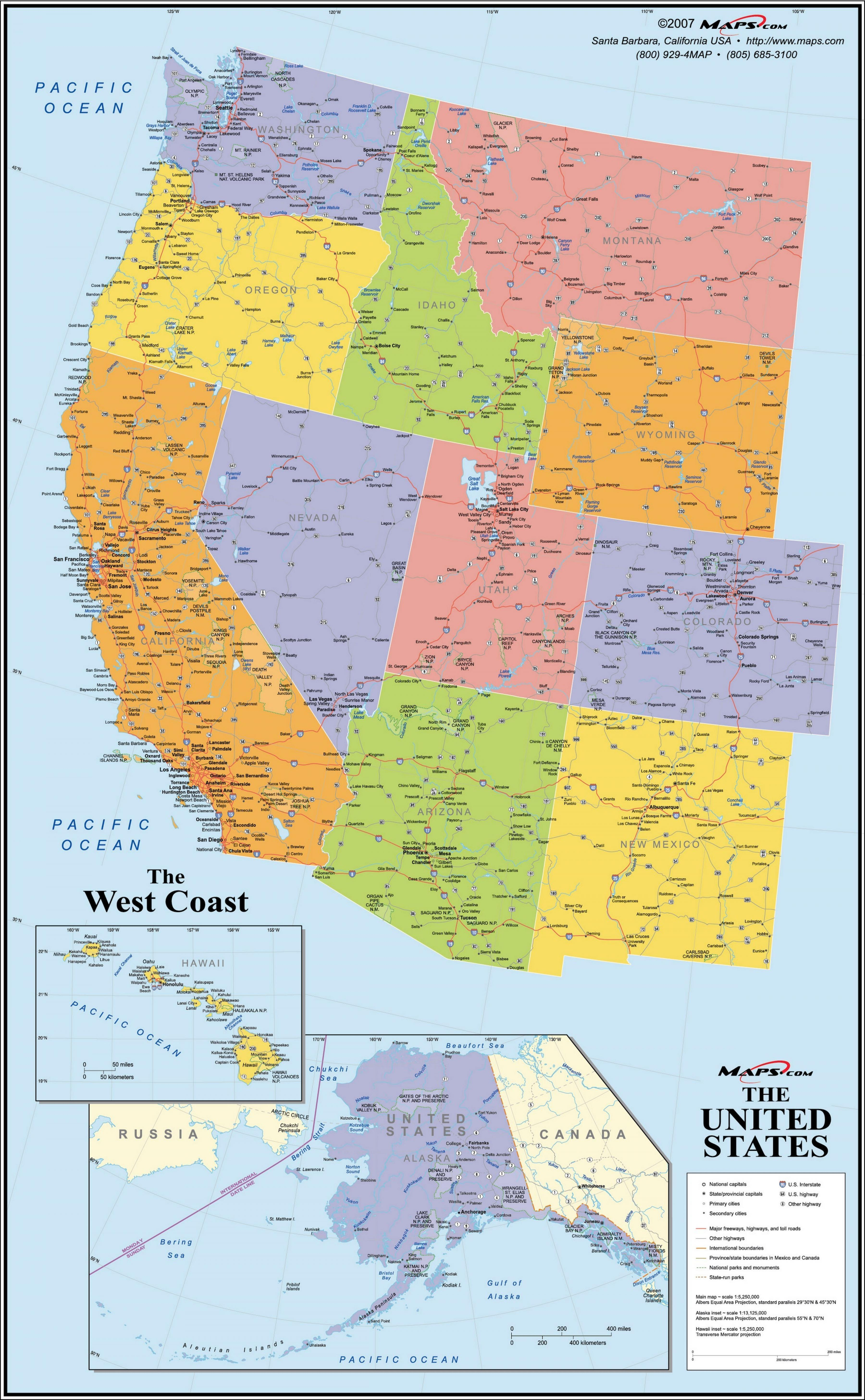 America Occidentale Cartina.Mappa Usa Costa Ovest Mappa Degli Stati Uniti West Coast America Del Nord America