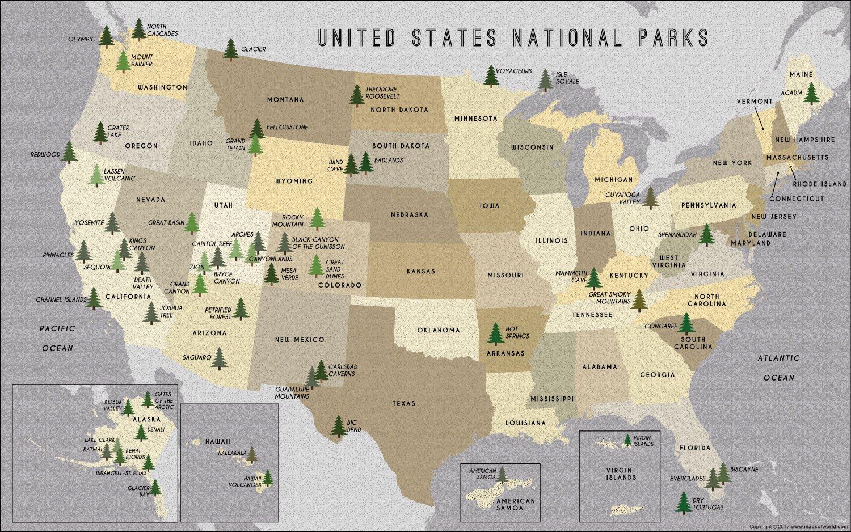 Parchi Usa Cartina.Parchi Mappa Mappa Dei Parchi America Del Nord America