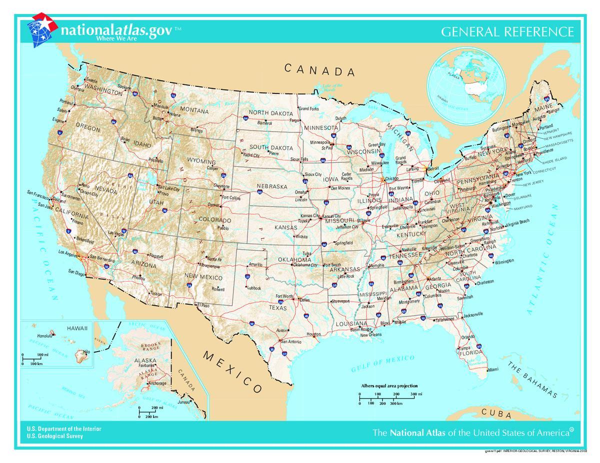 Cartina Geografica Degli Stati Uniti Di America.Usa Mappa Cartina Mappa Degli Stati Uniti America Del Nord America